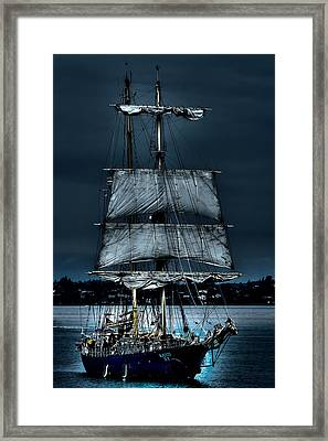 The Kaisei Brigantine Tall Ship Framed Print