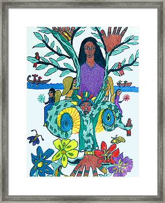 The Kakno Place Of Fantasy Framed Print by Betty  Roberts