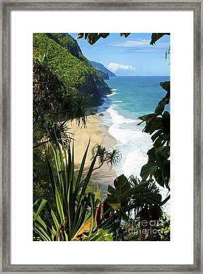 The Kalalau Trail Of Kauai Framed Print