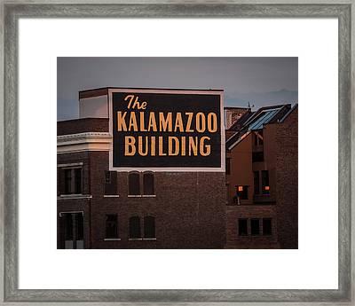 The Kalamazoo Building Framed Print