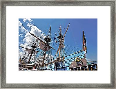 Framed Print featuring the photograph The Kalmar Nyckel - Delaware by Brendan Reals