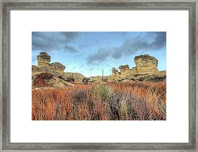 The Kansas Badlands Framed Print