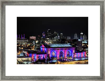 Framed Print featuring the photograph The Kansas City Skyline by JC Findley