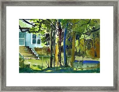 Framed Print featuring the painting The Kapok Tree by Charlie Spear