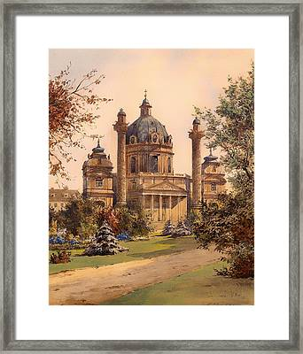 The Karlskirche In Vienna Framed Print by Mountain Dreams