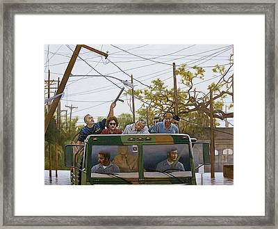The Katrina Aftermath Framed Print by Curtis James