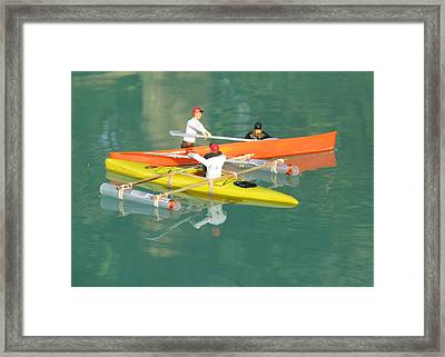 The Kayak Team 12 Framed Print by Digital Art Cafe
