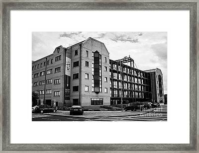 the keel apartments building converted from commercial property queens dock Liverpool Merseyside UK Framed Print