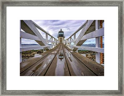 The Keeper's Walkway At Marshall Point In Color Framed Print