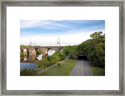 The Kelly Drive Rock Tunnel Framed Print