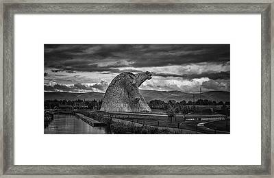The Kelpies. Framed Print by Angela Aird