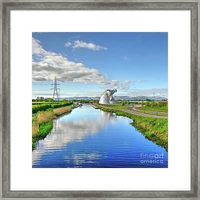 The Kelpies, Helix Park, Scotland Framed Print by Alba Photography