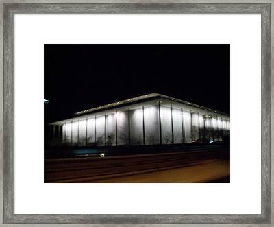 The Kennedy Center Framed Print by Fareeha Khawaja