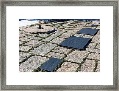 The Kennedy Family In Arlington Framed Print by Cora Wandel