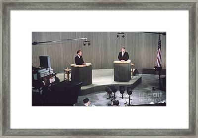 The Kennedy-nixon Debate Framed Print by The Titanic Project