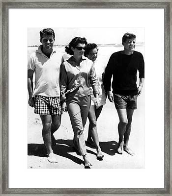 The Kennedys, Robert, Jackie, Ethel Framed Print by Everett