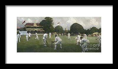Cricket Players Framed Prints