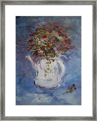 The Kettle Vase Framed Print by Edward Wolverton