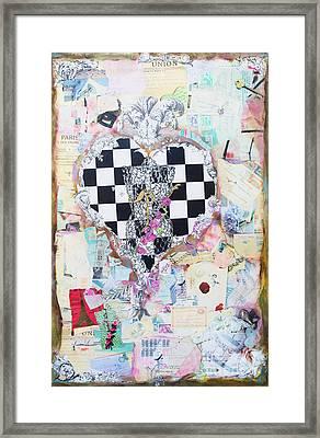 The Key - Ephemera Fashion Heart Framed Print by WALL ART and HOME DECOR