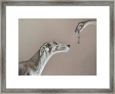 The Key Of Sincerity Framed Print by Elena Kolotusha