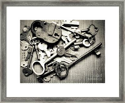 Framed Print featuring the photograph The Key To Love by Ana V Ramirez