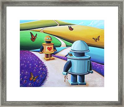 The Key To My Heart Framed Print by Cindy Thornton