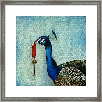 The Key To Success Framed Print by Carrie Jackson