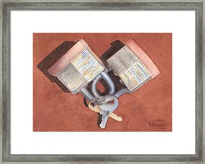 The Keys To My Heart Framed Print by Ken Powers