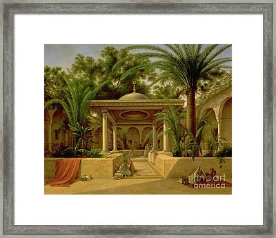 The Khabanija Fountain In Cairo Framed Print by Grigory Tchernezov