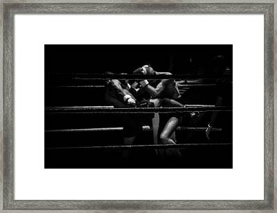 The Kick Boxers Framed Print by Rudy Van Her Veen