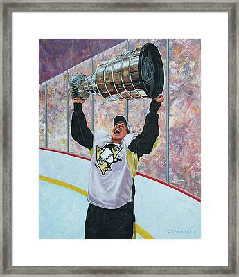The Kid And The Cup Framed Print