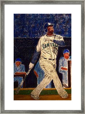The Kid Feat Ken Griffey Jr Framed Print by D Rogale