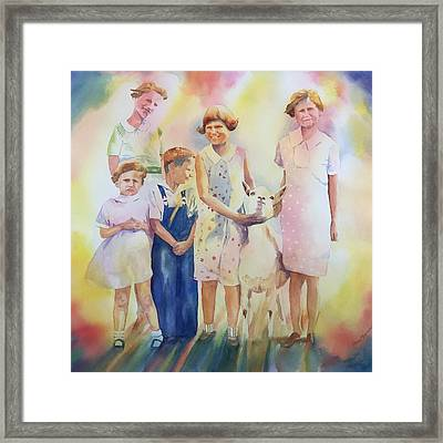 The Kids And The Kid Framed Print