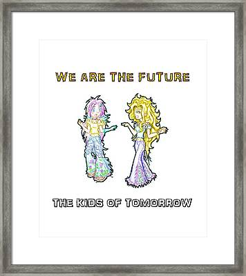 Framed Print featuring the painting The Kids Of Tomorrow Ariel And Darla by Shawn Dall