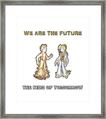 Framed Print featuring the digital art The Kids Of Tomorrow Corie And Albert by Shawn Dall