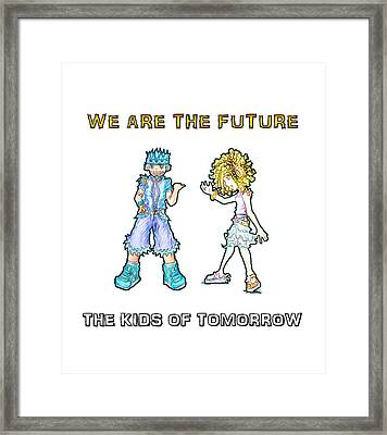 Framed Print featuring the digital art The Kids Of Tomorrow Toby And Daphne by Shawn Dall