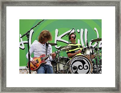 The Killdares Drummer - Tim Smith Framed Print by Joy Tudor