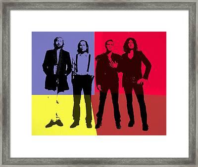 The Killers Pop Art Panels Framed Print