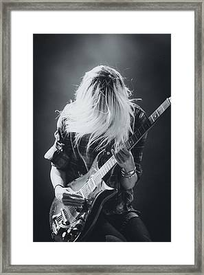 The Kills Playing Live Framed Print by Marco Oliveira