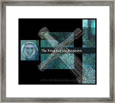The King And The Magician Cover Art Framed Print by Marcus Malara