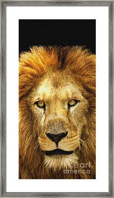 The King Framed Print by Celestial Images