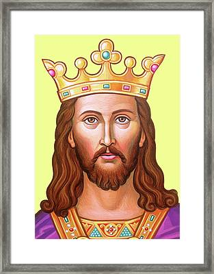 The King In Purple Framed Print