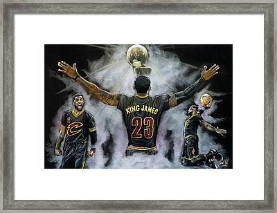 The King Framed Print by Jordan Spector