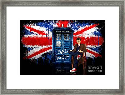 The King Of All Doctor Framed Print by Three Second
