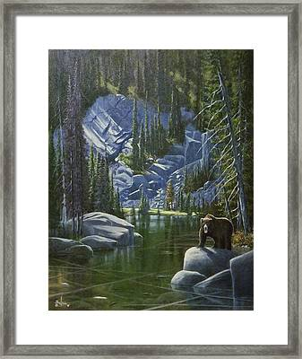 The King Of Cook's Lake Framed Print