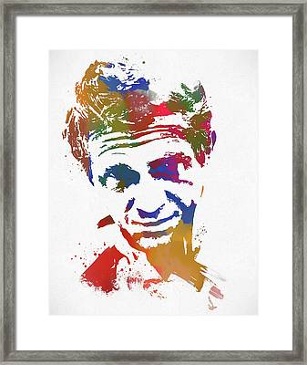 The King Of Cool Paint Splatter Framed Print by Dan Sproul