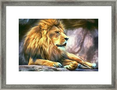 The King Of Cool Framed Print by Tina LeCour