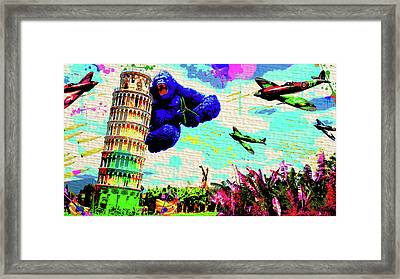 The King Of Pisa Framed Print by Mr Bigg Makk