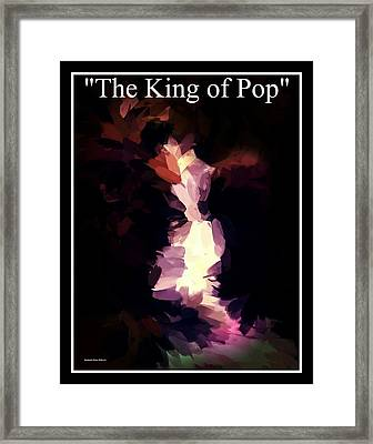 The King Of Pop Framed Print by Blue Doves