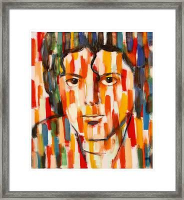 the king of pop Michael Jackson Framed Print by Habib Ayat